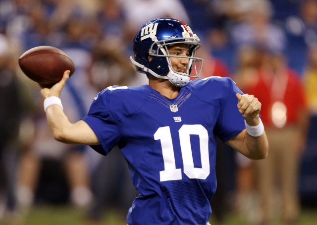 Eli Manning hasn't been in sync in the Giants' first three preseason games. (Brian Spurlock, USA TODAY Sports)