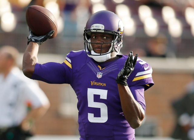 Teddy Bridgewater had a solid outing on Friday, but so did Matt Cassel. (Bruce Kluckhohn, USA TODAY Sports)