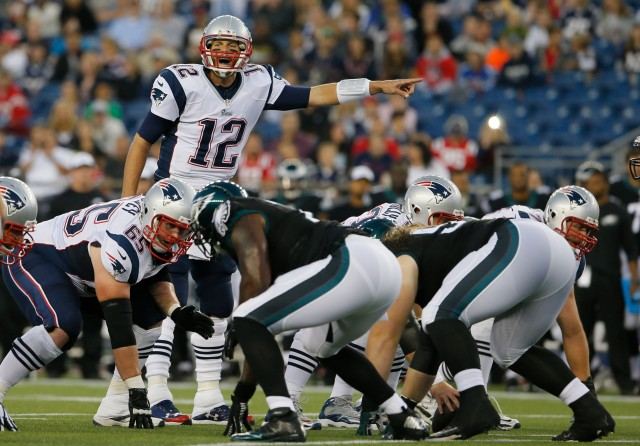 Patriots QB Tom Brady (12) appeared in complete control Friday night. (David Butler II-USA TODAY Sports)