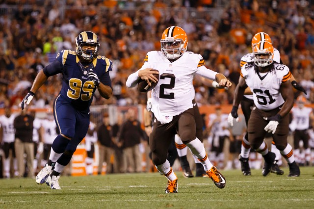 Johnny Backup? Maybe not, if Manziel proves he could work in a two-QB system. (Rick Osentoski, USA TODAY Sports)
