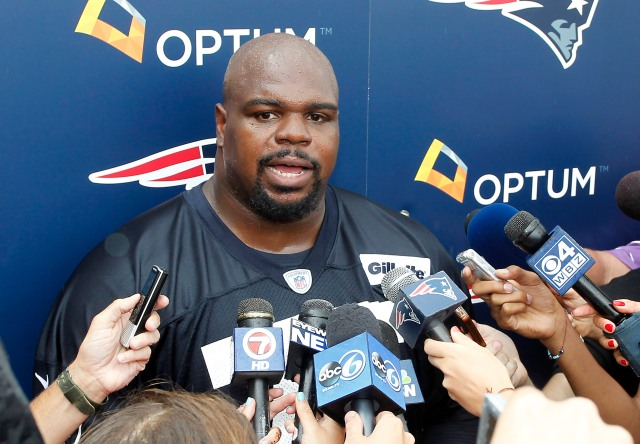Vince Wilfork has slimmed down and is dominating in training camp. (Stew Milne, USA TODAY Sports)