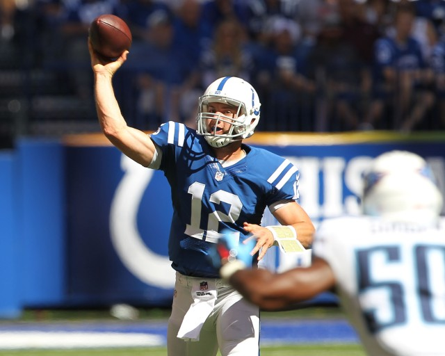 Andrew Luck threw for 393 yards and four TDs and made it look easy. (Pat Lovell, USA TODAY Sports)