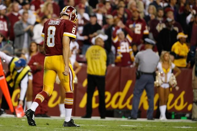 Kirk Cousins' four-interception performance Thursday was the worst of his career. (Alex Brandon, Associated Press)