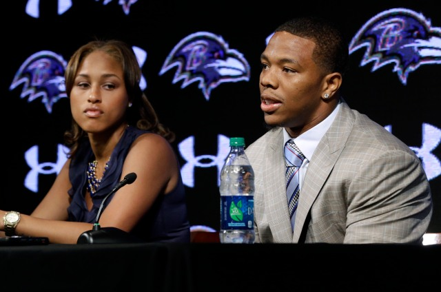 Janay Palmer and Ray Rice. (AP Photo/Patrick Semansky)