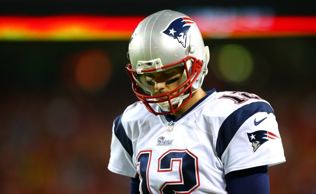 Tom Brady and the Patriots are falling far short of expectations. (Dilip Vishwanat, Getty Images)