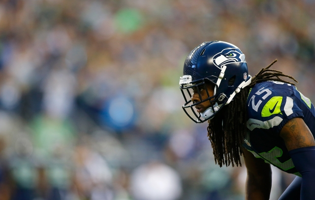 The Green Bay Packers didn't target Richard Sherman once Thursday night. (Jonathan Ferrey/Getty Images)