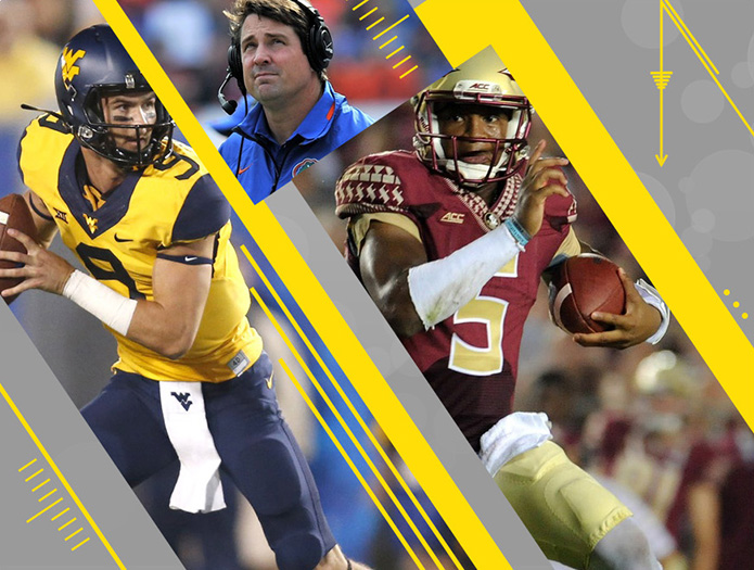Florida State, Florida and West Virginia all face tough tests. / USA TODAY Sports