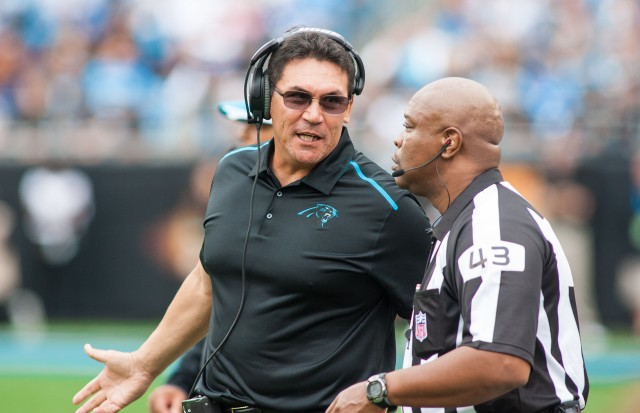 Carolina coach Ron Rivera sent the wrong message about Greg Hardy. (Jeremy Brevard, USA TODAY Sports)