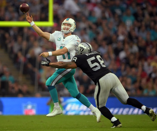 Ryan Tannehill put together a strong game in London after a week of controversy.  (Kirby Lee, USA TODAY Sports)