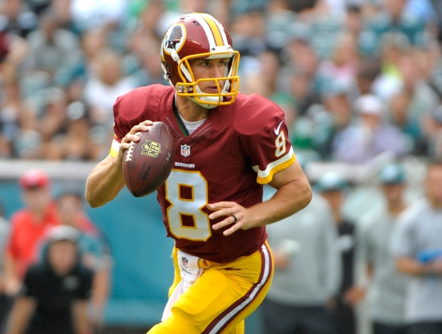 Washington Redskins quarterback Kirk Cousins (8) looks for a receiver. (Eric Hartline-USA TODAY Sports)