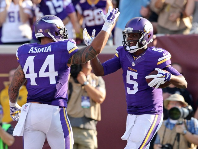 Teddy Bridgewater became the first rookie QB to win a game this year. (Brace Hemmelgarn, USA TODAY)