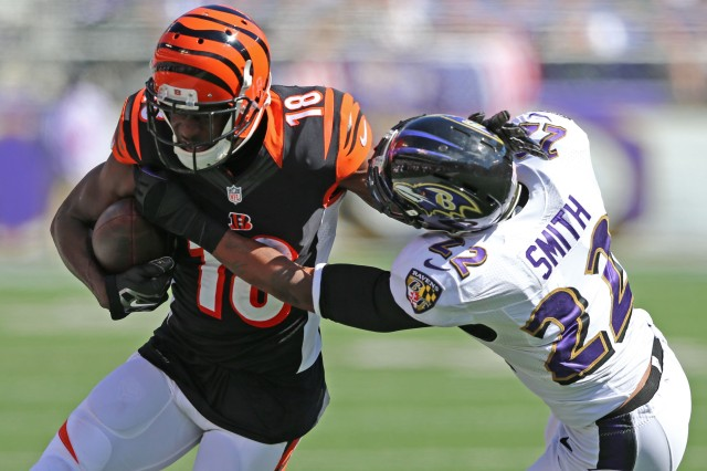Bengals WR A.J. Green has become a thorn in the Ravens' side. (Mitch Stringer-USA TODAY Sports )