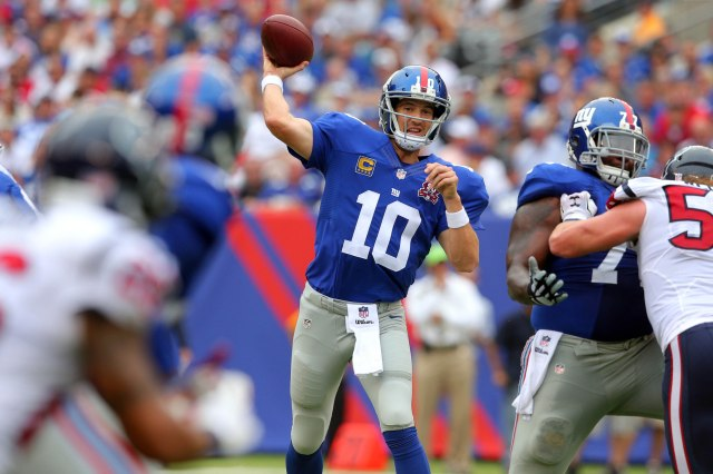 Will Eli Manning take another step forward in Thursday's game? (Brad Penner, USA TODAY Sports)