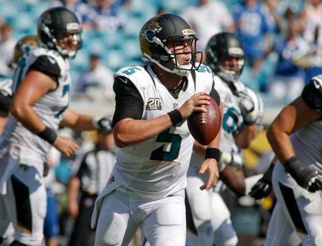 Jags QB Blake Bortles got his first regular-season snaps last week. (Phil Sears-USA TODAY Sports)