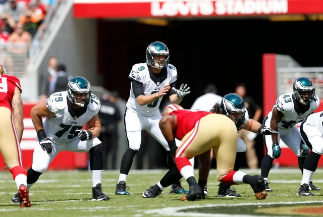 A strength last year, this season' Eagles offensive line has thrown off any sense of rhythm. (Bob Stanton, USA TODAY Sports)