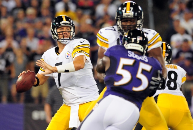 Ben Roethlisberger took a big shot early in Thursday night's game. (Evan Habeeb, USA TODAY Sports)