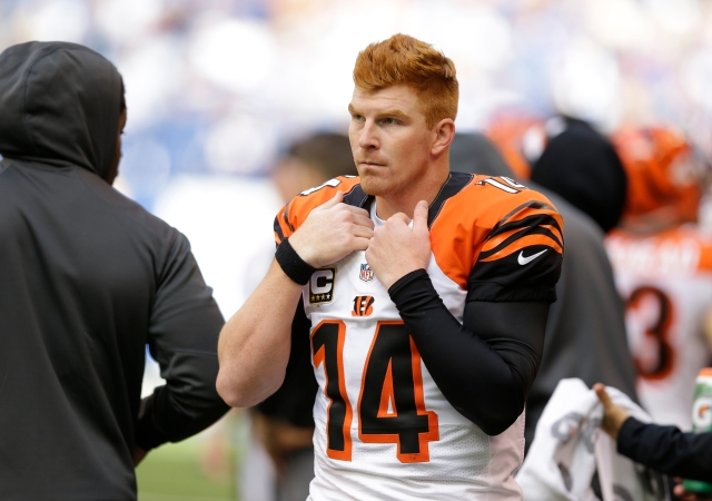 Andy Dalton and the Bengals' offense hit a new low in Week 7. (Michael Conroy, Associated Press)