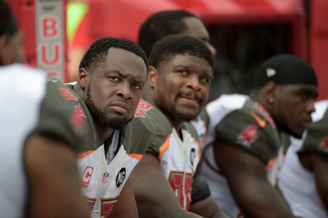 Gerald McCoy and the Buccaneers haven't had much to smile about this season. (Phelan M. Ebenhack, Associated Press)