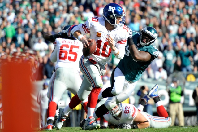 (QB Eli Manning will try to lead the Giants to a fourth consecutive victory Sunday night in Philadephia./Joe Camporeale, USA TODAY Sports)