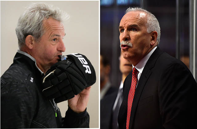 Darryl Sutter, left (AP photo); Joel Quenneville (USA TODAY Sports photo)