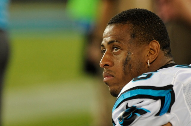 Greg Hardy has not played since Week 1. He was deactivated after an offseason conviction for domestic abuse. (Sam Sharpe, USA TODAY Sports)