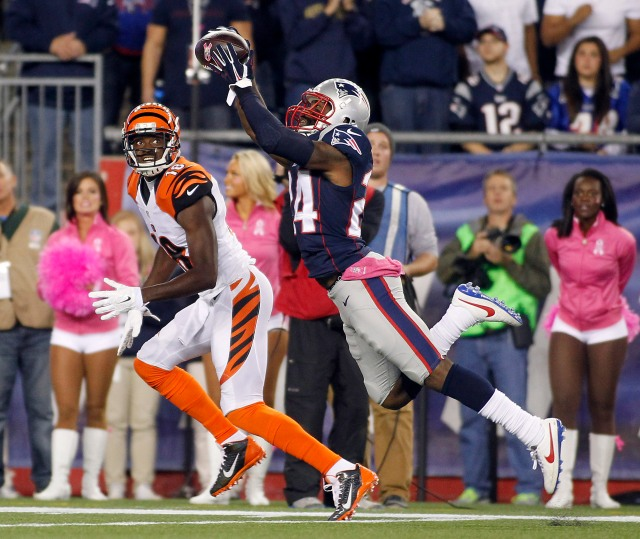 With Revis taking Green out of the game, The Bengals offense struggled in its loss to the Patriots.  (Stew Milne-USA TODAY Sports)