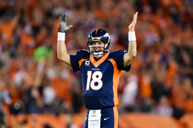 We're awesome, says Peyton Manning. (Ron Chenoy, USA TODAY Sports)