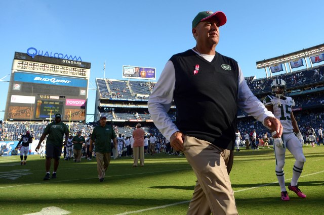 Geno Smith gets the blame, but Rex Ryan is responsible for the Jets' woes. (Jake Roth, USA TODAY Sports)