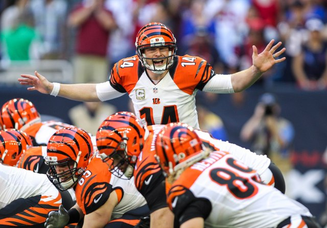 Andy Dalton was good enough Sunday, but is he ready for the playoffs? (Troy Taormina, USA TODAY Sports)