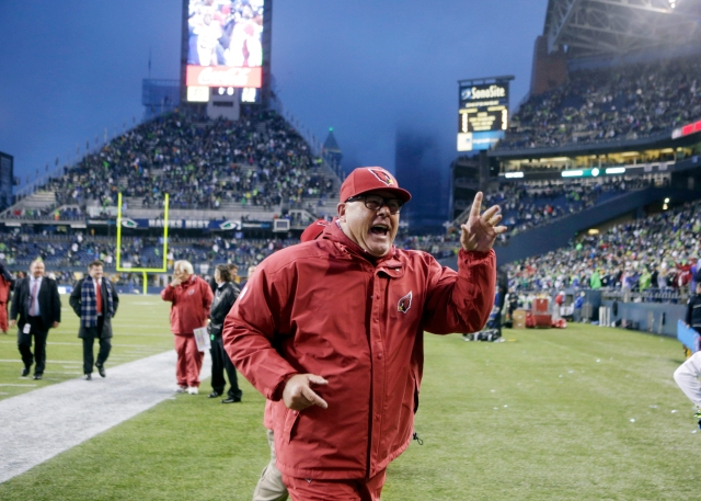 Coach Bruce Arians' Cardinals were the only team to win in Seattle in 2013. (Stephen Brashear, AP)
