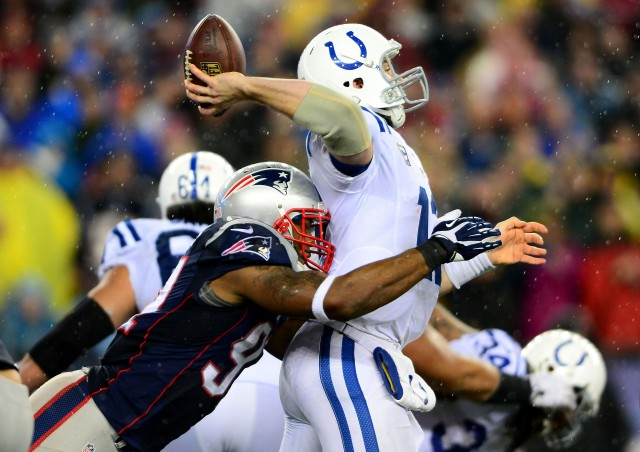 Andrew Luck's Colts have been outscored 102-46 in two losses to the Patriots. (Andrew Weber-USA TODAY Sports)