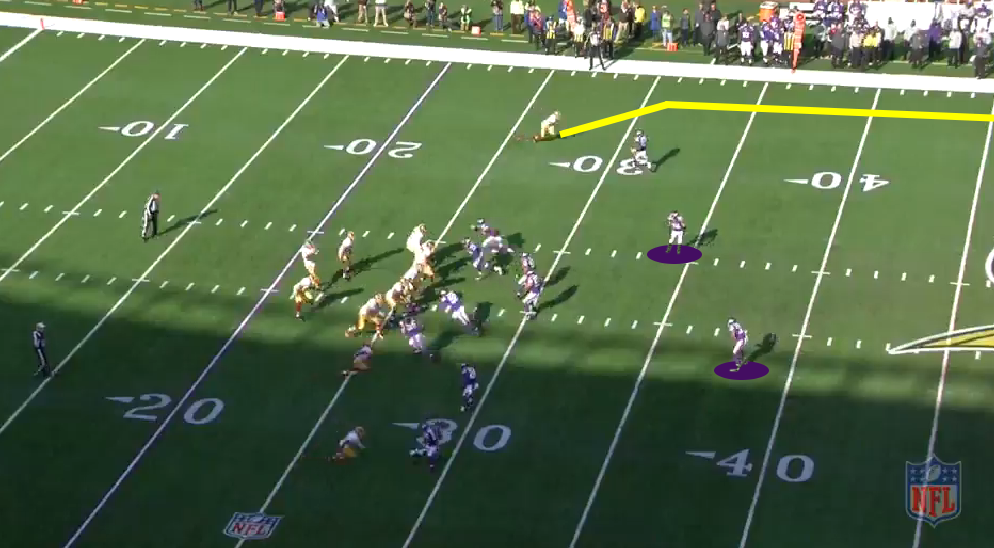 The Vikings disguise their coverage before the snap, showing two safeties back deep. (NFL.com)