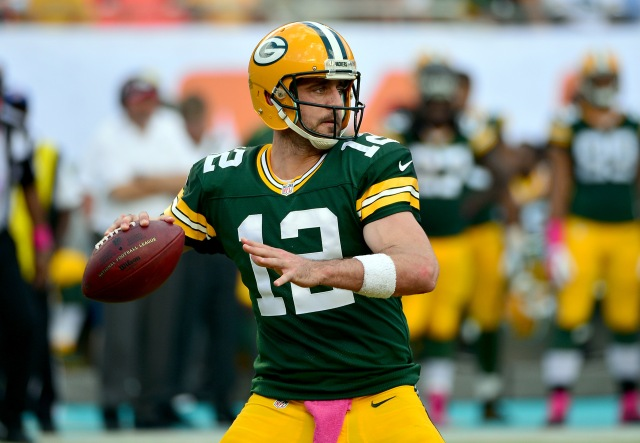 Aaron Rodgers and the Packers haven't lost at home in 2014. (Steve Mitchell, USA TODAY Sports)