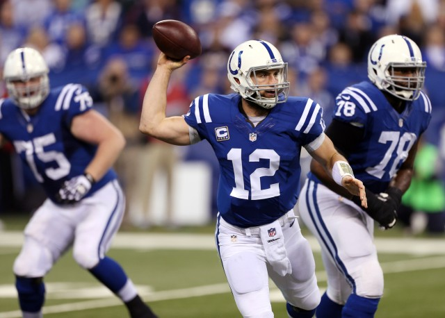 Can Andrew Luck take the next step and lead the Colts on a playoff run? (Brian Spurlock, USA TODAY Sports)