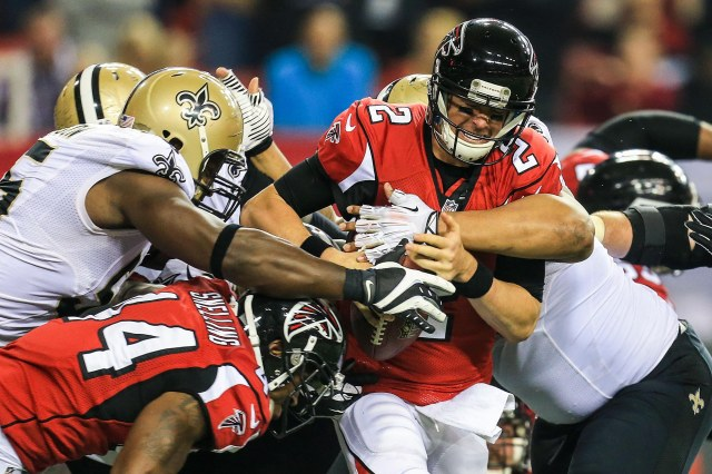 Matt Ryan (2) and the Falcons will have to win in New Orleans to reclaim control of the NFC South. (Daniel Shirey, USA TODAY Sports)
