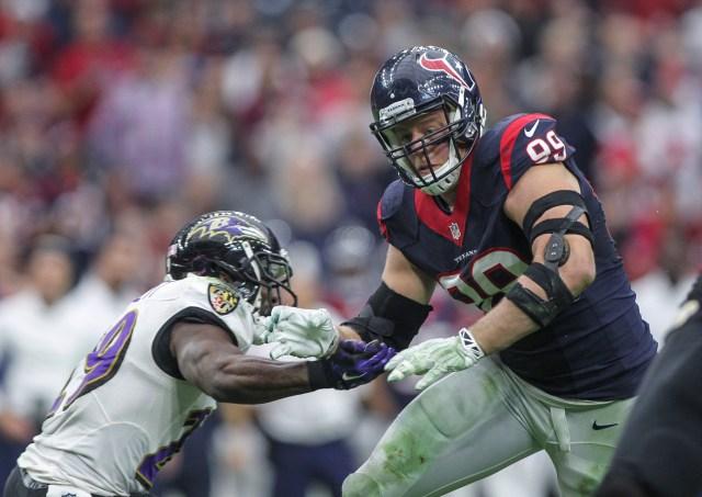 The Ravens had no answer for J.J. Watt. (Troy Taormina, USA TODAY Sports)