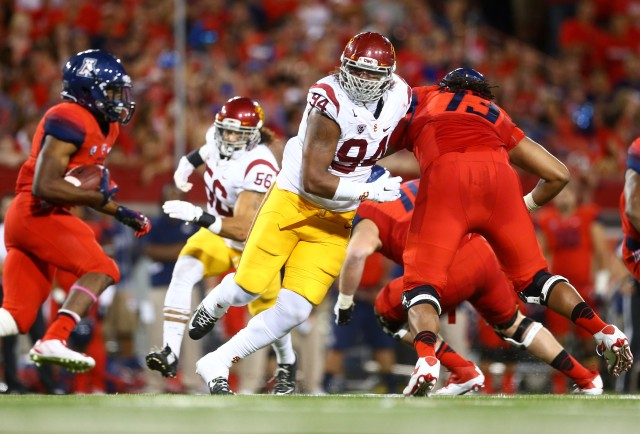USC DE Leonard Williams figures to among the top players taken at the 2015 NFL draft. (Mark J. Rebilas-USA TODAY Sports)