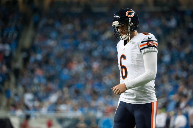 Chicago Bears quarterback Jay Cutler (6) during the fourth quarter against the Detroit Lions. (Tim Fuller-USA TODAY Sports)