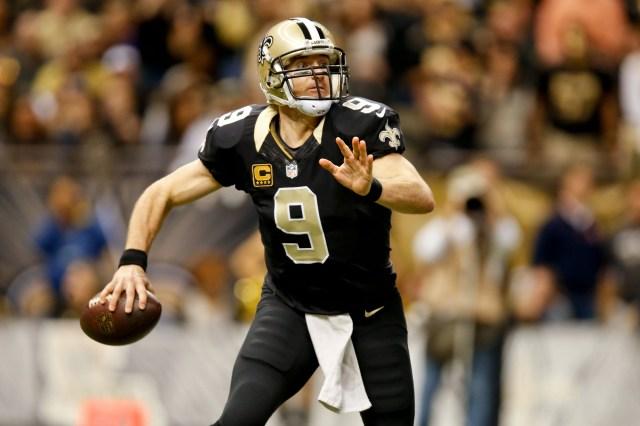 New Orleans Saints quarterback Drew Brees (9) against the Carolina Panthers. (Derick E. Hingle-USA TODAY Sports)