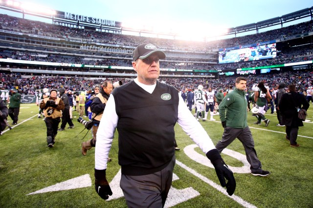 Rex Ryan's six-year hitch with the Jets appears just about over. (Brad Penner, USA TODAY Sports)