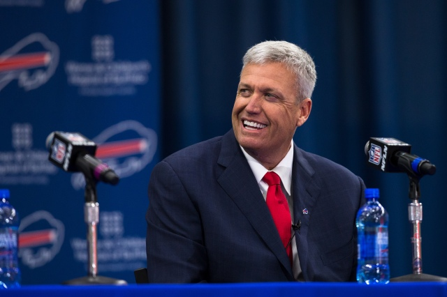 Rex Ryan attends a press conference announcing his arrival as head coach of the Buffalo Bills. (Brett Carlsen/Getty Images)