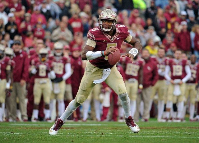 Jameis Winston would bring good pocket passing ability plus mobility to the NFL. (Melina Vastola, USA TODAY Sports)