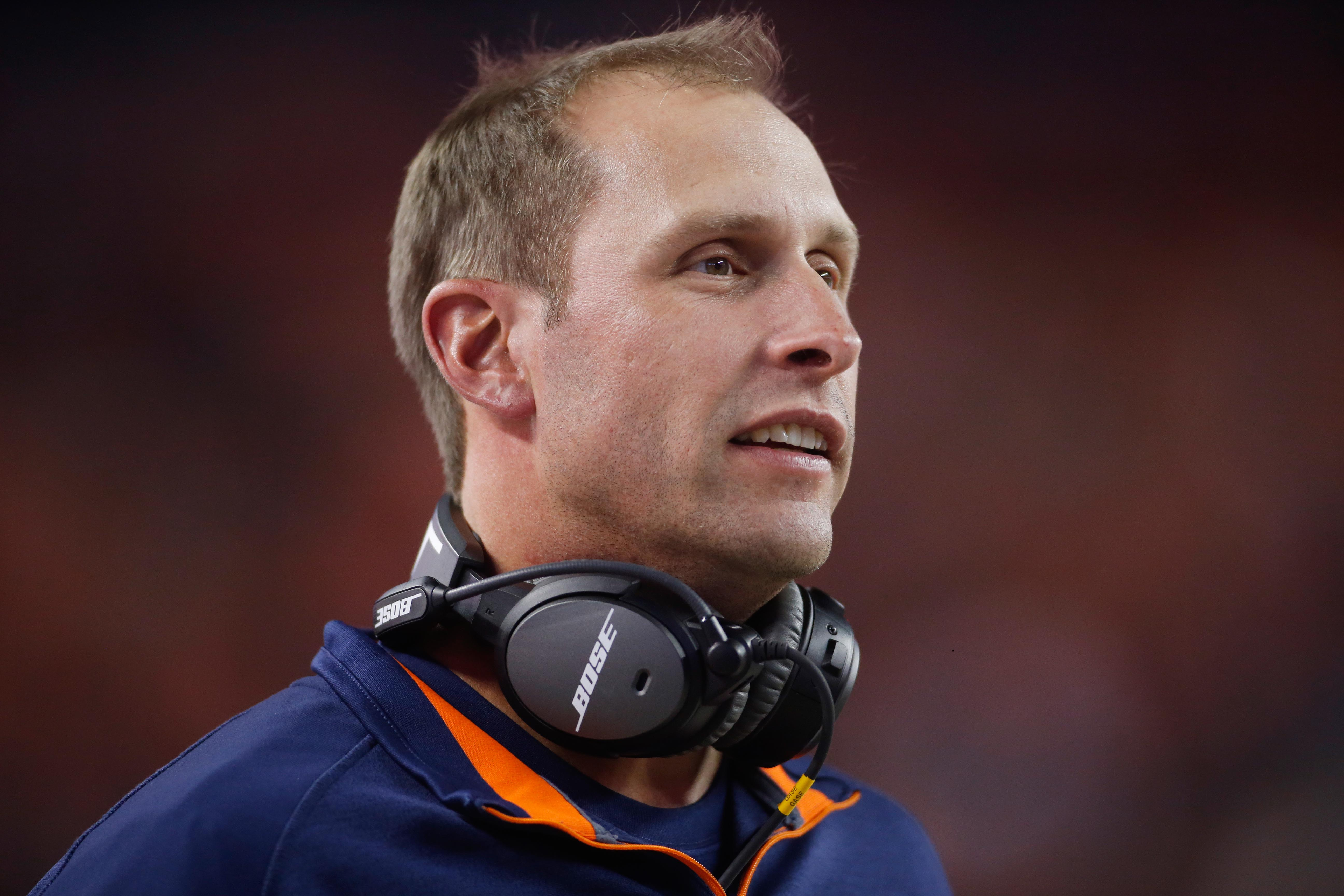 Broncos' offensive coordinator Adam Gase is now available for hire. (Chris Humphreys-USA TODAY Sports)
