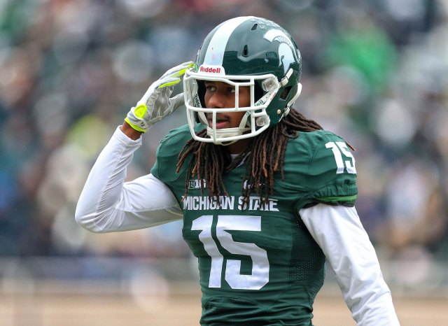 Michigan State's Trae Waynes might be a reach at pick No. 10, but the Rams needs don't line up well with the prospect rankings. (Mike Carter-USA TODAY Sports)