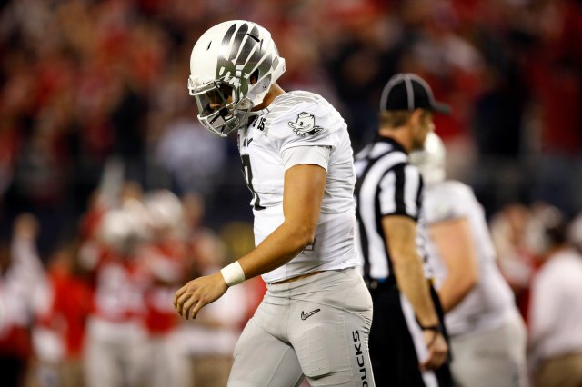 Marcus Mariota's stock has unfairly taken a hit after Oregon's loss in the CFP National Championship Game .