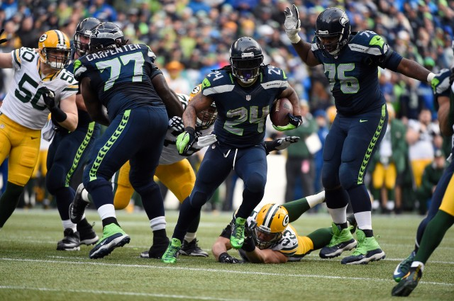 Stopping Marshawn Lynch will be the focal point of New England's gameplan. (Kyle Terada-USA TODAY Sports)