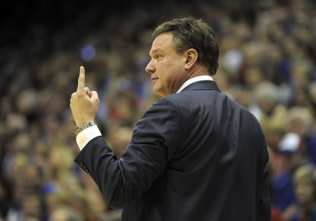Kansas coach Bill Self is wondering: Are we really No. 1? (John Rieger, USA TODAY Sports)