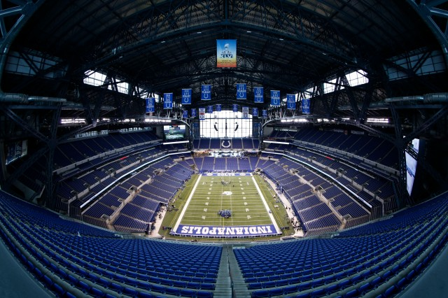 All NFL eyes are on Lucas Oil Stadium, home of the annual scouting combine, for the next few days. (Brian Spurlock, USA TODAY Sports)