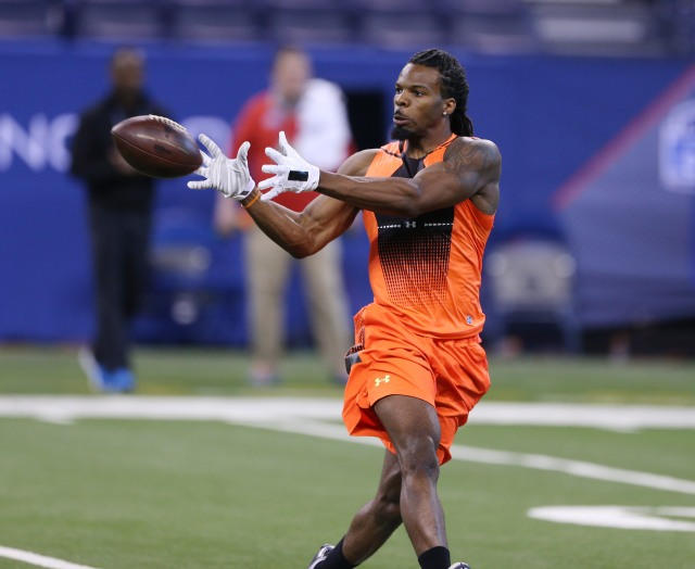 Kevin White could be the first receiver taken on draft day. ( Brian Spurlock-USA TODAY Sports)