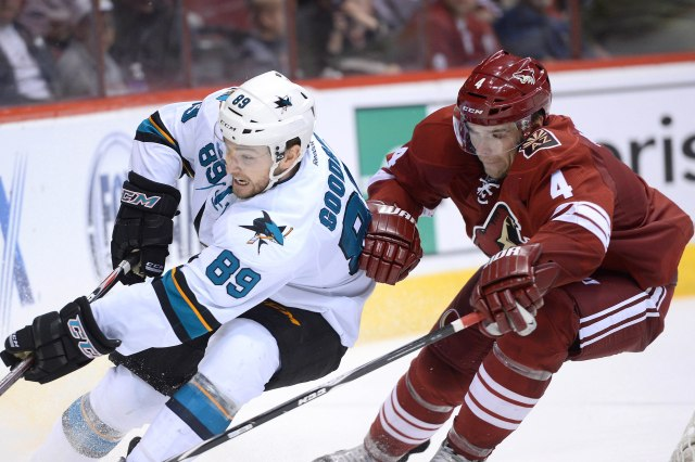 Zbynek Michalek, right, is heading to the Blues. (Joe Camporeale, USA TODAY Sports)